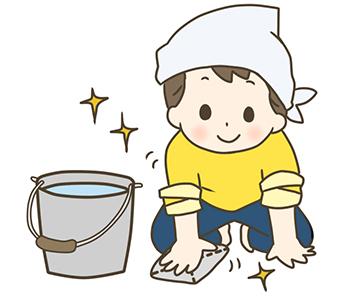 子供と一緒に床掃除!のアイキャッチ画像
