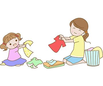 洗濯物を子供にたたんでもらう!のアイキャッチ画像