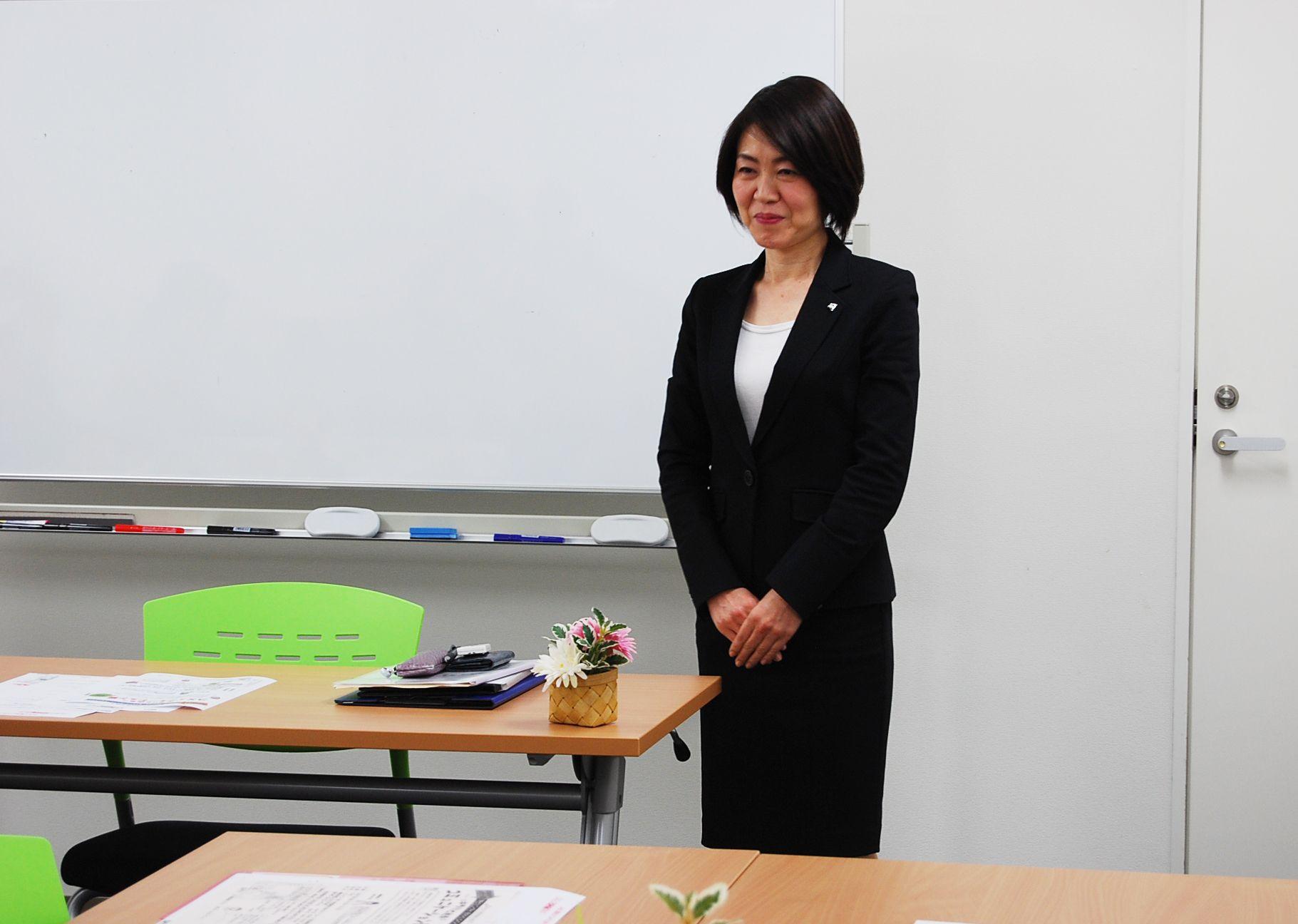 セミナーを担当された川崎ゆかり先生