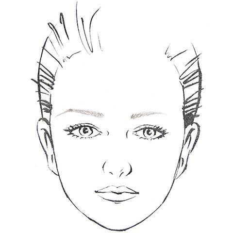 長い眉と短い眉の印象の違いを表した例