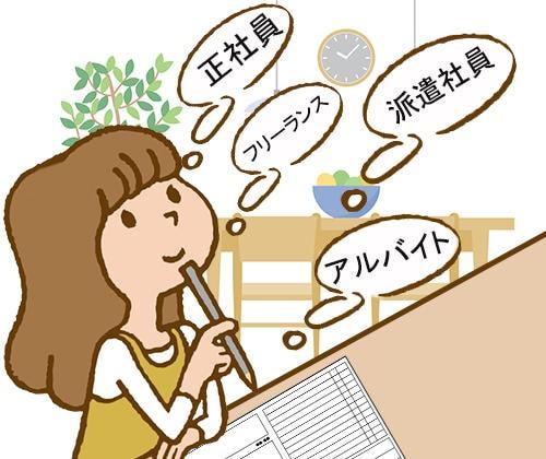 主婦は、働く前に雇用形態別の待遇をチェックしようのアイキャッチ画像